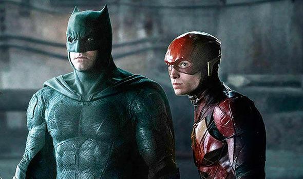 Batman do Ben Affleck  e Flash em Liga da Justiça