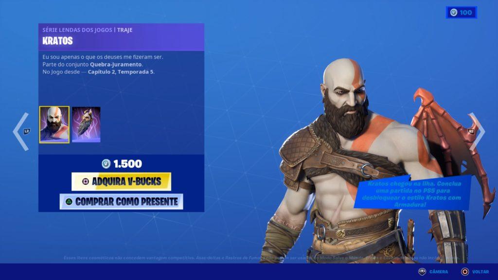 Kratos em Fortnite 1