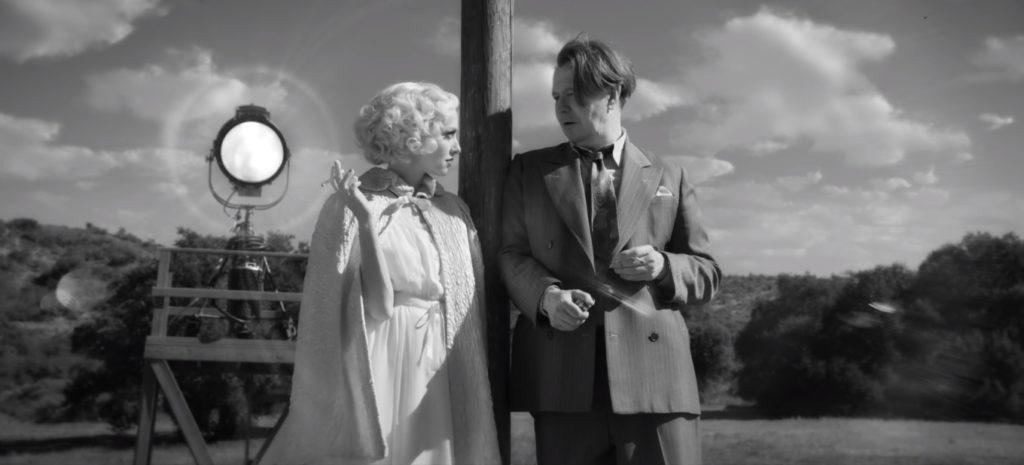 O roteirista Mank e a atriz Marion Davies.